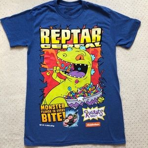 Reptar Cereal Men's T-Shirt -Size S - Nickelodeon